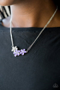 Hibiscus Haciendas & Flowering Fiji - Purple Necklace & Bracelet Set