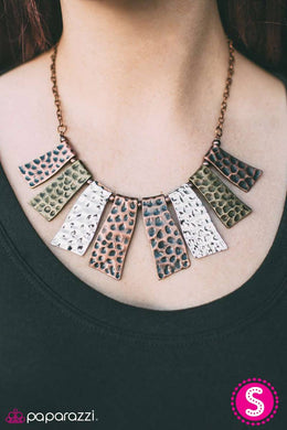 A Fan of The Tribe - Copper  Blockbuster Necklace 1171N