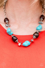 Load image into Gallery viewer, Earth Godess - Blue Necklace & Bracelet Set