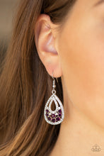 Load image into Gallery viewer, Sparkling Stardom - Purple Earring