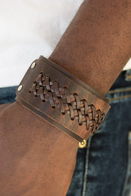 Hot On The Trail - Brown Urban Bracelet