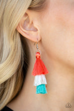Load image into Gallery viewer, Hold On Your Tassel - Orange Earring 53E