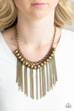 Load image into Gallery viewer, Powerhouse Prowl - Brass Necklace 1212N