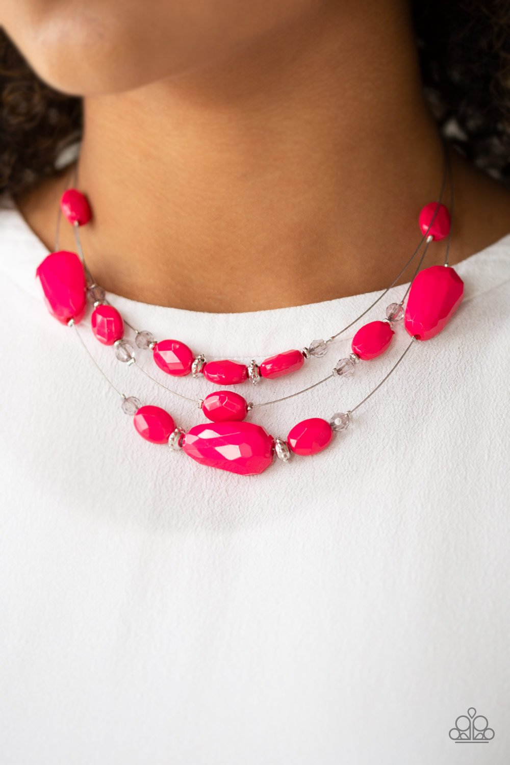 Radiant Reflection - Pink Necklace 1028n