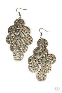 The Party Animal - Brass Earring 21E
