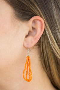 The Show Must CONGO On ! - Orange Seed Bead Necklace