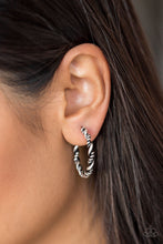 Load image into Gallery viewer, Plainly Panama - Silver Hoop Earring