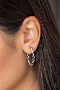 Plainly Panama - Silver Hoop Earring