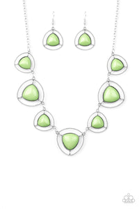 Make A Point - Green Necklace 1097N