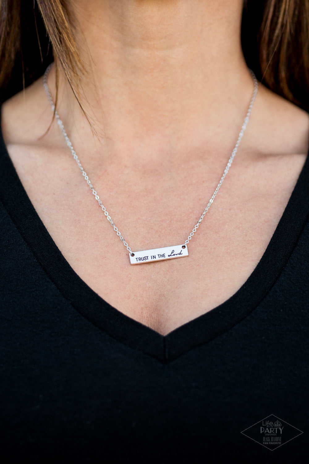 Trust In The Lord - Silver Necklace 1234N