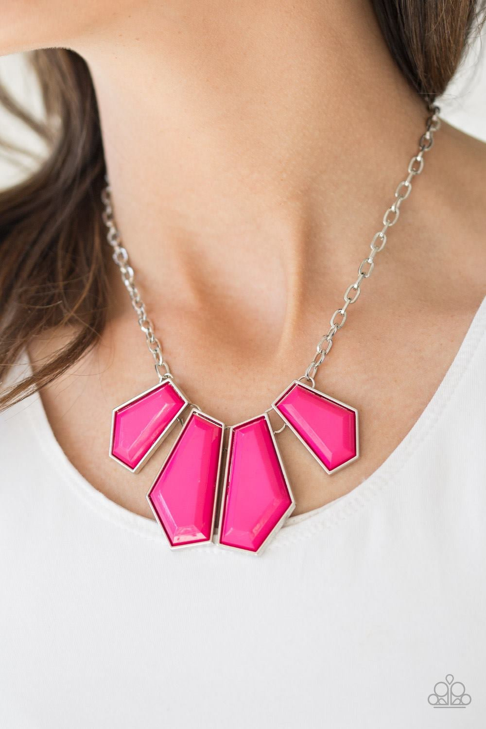 Get Up and GEO Pink Necklace