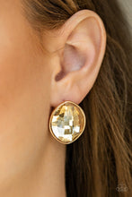 Load image into Gallery viewer, Movie Star Sparkle - Gold  Earring 50e