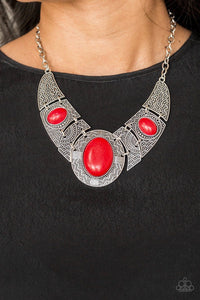 Leave Your Land Mark - Red Necklace 46n