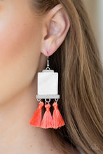Load image into Gallery viewer, Tassel Retreat - Orange Earring 26E