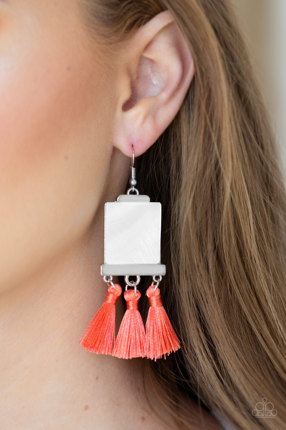 Tassel Retreat - Orange Earring 26E
