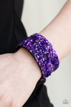 Load image into Gallery viewer, Starry Sequins - Purple Bracelet 1559B