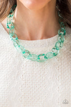 Load image into Gallery viewer, Ice Ice Baby Necklace & Ice Queen Bracelet Set  Green