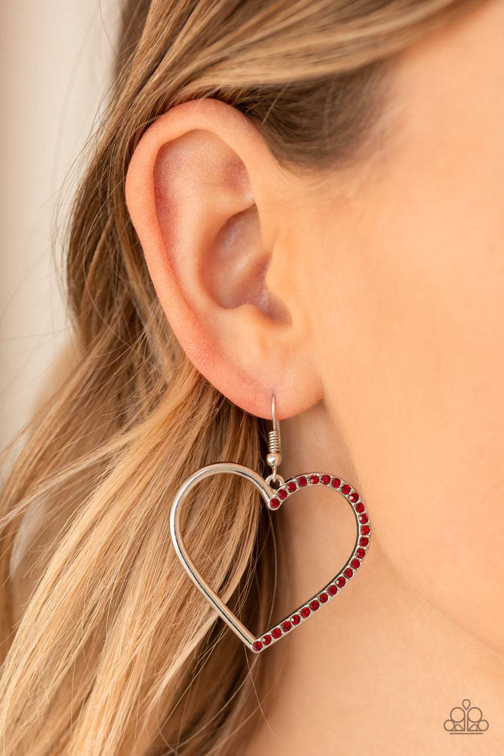 First Date Dazzle - Red Earring 2614E