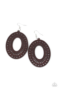 Retro Retreat - Brown Earring