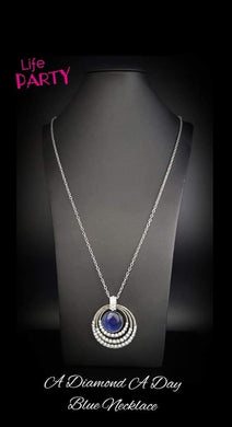 A Diamond A Day - Blue Necklace