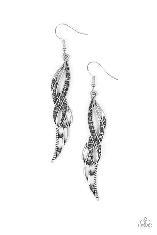 Let Down Your Wings - Silver Earring