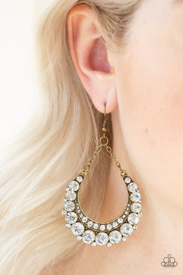 Once In A SHOWTIME - Brass Earring