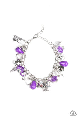 Charmingly Romantic - Purple Bracelet