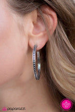 Load image into Gallery viewer, TRIBE As I May - Silver Hoops Earrings 2559E