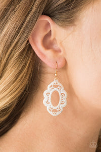 Mantrass and Mandalas - White Earring