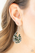 Load image into Gallery viewer, Cash Or Crystal - Green Earring 2643E