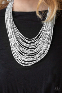 Rio Rainforest -  White Necklace 1032n