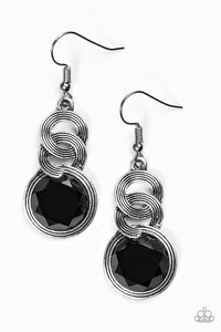 Be GLAM Enough - Black Earrings