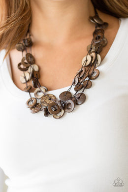 Wonderfully Walla Walla - Brown Necklace