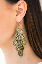 Load image into Gallery viewer, The Party Animal - Brass Earring 21E