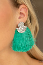 Load image into Gallery viewer, Make Some PLUME - Green Earring 17E