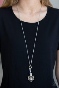 Hustle Mom - Blue Necklace 35n
