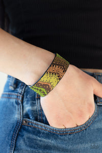Come Uncorked - Green Bracelet 1592B