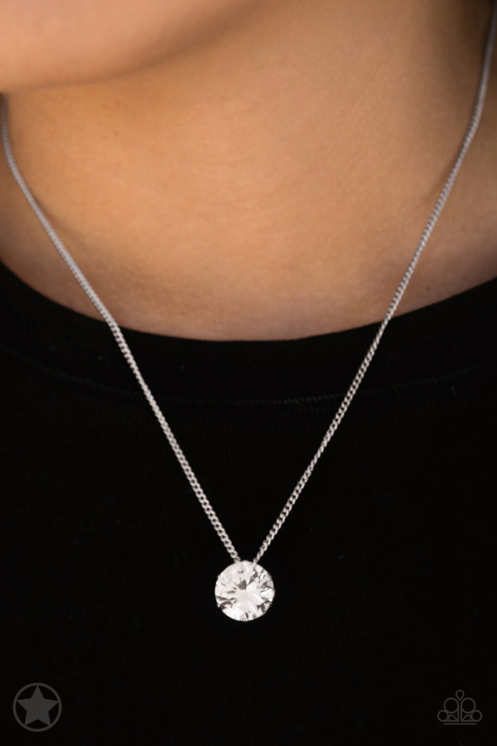 What A Gem -  White Necklace 1035n