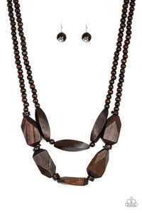 Tropical Heat Wave - Brown Necklace