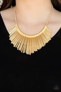 Metallic Mane - Gold Necklace 1177N