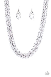 Put It. On Ice - Silver Necklace