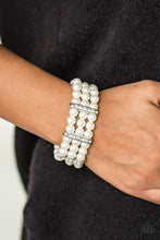Load image into Gallery viewer, Put On Your GLAM Face - White Bracelet