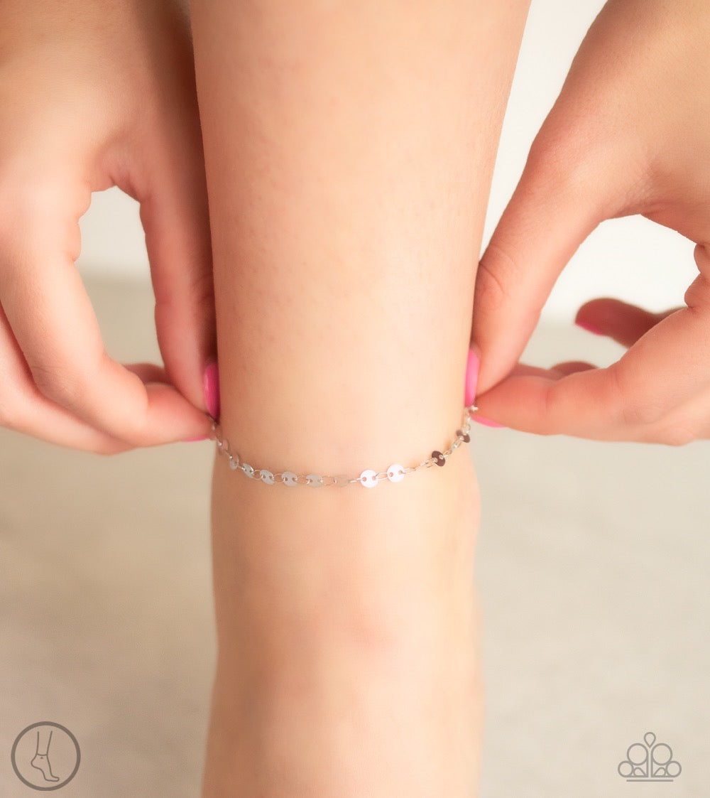 Beach Shimmer - Silver Anklet