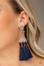 Load image into Gallery viewer, Tassel Trippin - Blue Earring