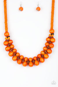Caribbean Cover Girl - Orange Necklace