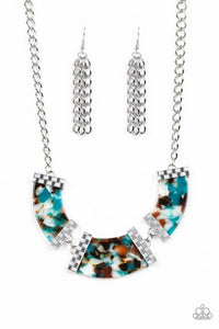HAUTE - Blooded - Blue Necklace 63n