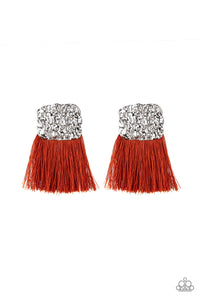 Plume Bloom - Orange Earring 45E