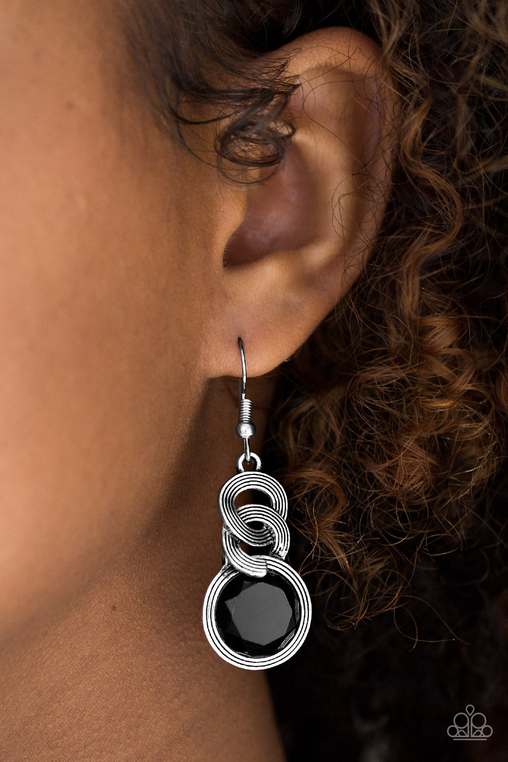 Be GLAM Enough - Black Earrings 2537E