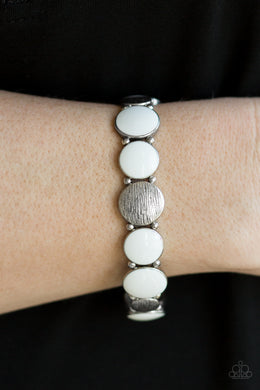 Bubble Blast - White Bracelet