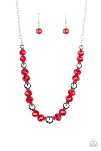 Jewel Jam - Red Necklace 1284N